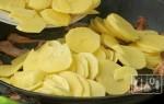 Картошка с копченым салом: рецепт приготовления