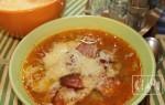 Как варить суп с копченой колбасой