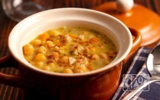 Как приготовить суп с нутом и копченостями