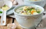 Рецепты сырного супа с копченой курочкой