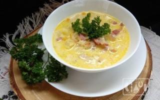 Как сварить суп с копченой грудинкой