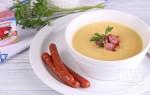 Крем суп с копченостями