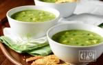 Суп с копченостями и консервированным горошком
