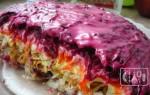 Салат под шубой с копченой селедкой