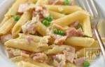 Макароны с копченой курицей: рецепт приготовления