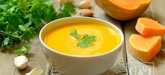 Тыквенный суп с копченостями
