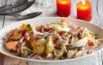 Рецепт вкусного салата с копченой горбушей