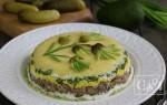 Салат из леща горячего копчения без майонеза