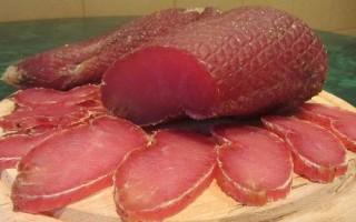 Вяленое мясо из свинины в домашних условиях