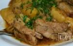 Рецепт копченых ребрышек с картошкой