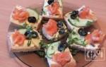 Бутерброды с копченой семгой: видео рецепт