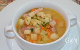 Гороховый суп с копченой грудинкой: пошаговые рецепты