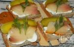 Бутерброды с копченой рыбой: рецепты с фото