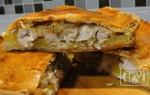 Пирог с копченой курицей: пошаговый процесс приготовления