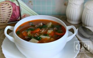 Суп и окрошка из копченой скумбрии