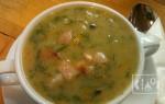 Гороховый суп с копченой свиной рулькой