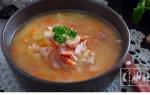 Как приготовить гороховый суп с копченым салом