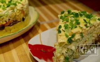 Салаты с копчёной свининой: с сыром и с грибами