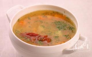 Суп с копчёнными рёбрышками: 9 лучших рецептов