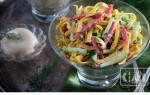 Салаты с блинами и копченой колбасой: 7 лучших рецептов