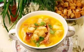 Как приготовить куриный суп с копченостями