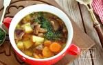 Суп с шампиньонами и копченой курицей