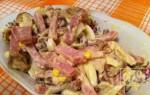 Как приготовить салат с копченым мясом