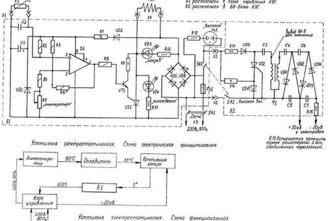 Схема электростатического блока