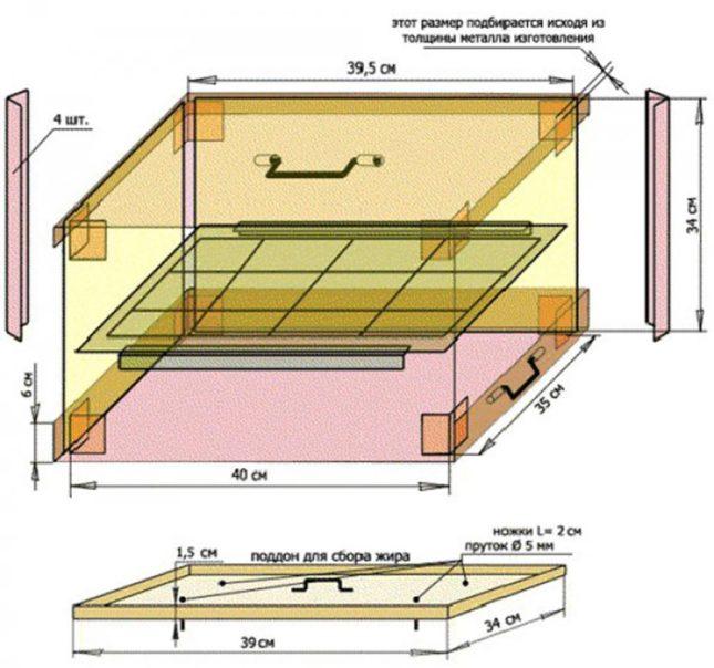Схема коптильни фото 2
