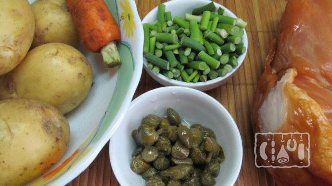 Ингредиенты для картошки с курицей