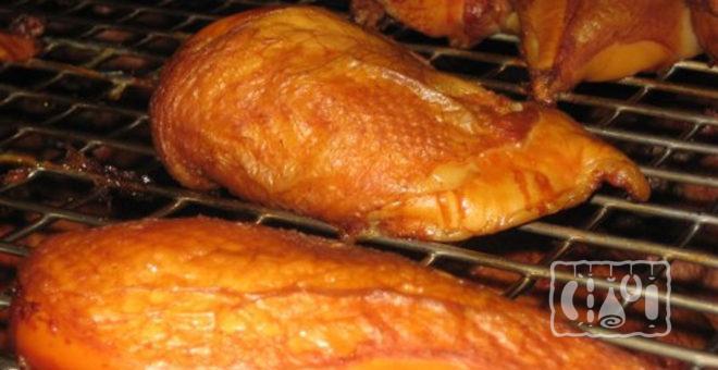 Копчение грудки горячим способом