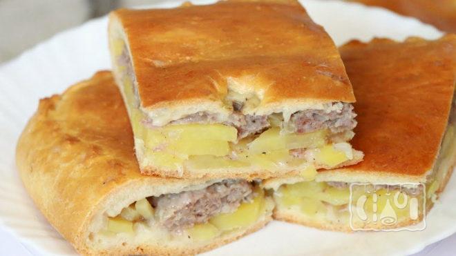 Пирог с картофелем и курицей
