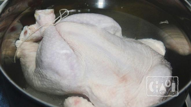 Приготовление курицы перед копчением