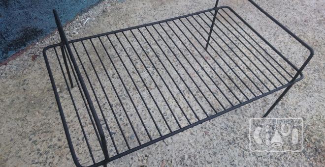 Прямоугольная решетка для коптильни