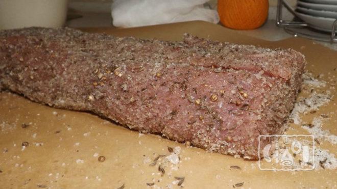 Сухая засолка мяса