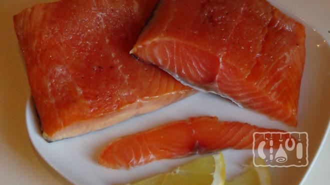 Филе лосося холодного копчения