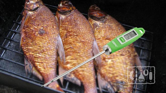 Кулинарный термометр для проверки готовности рыбы