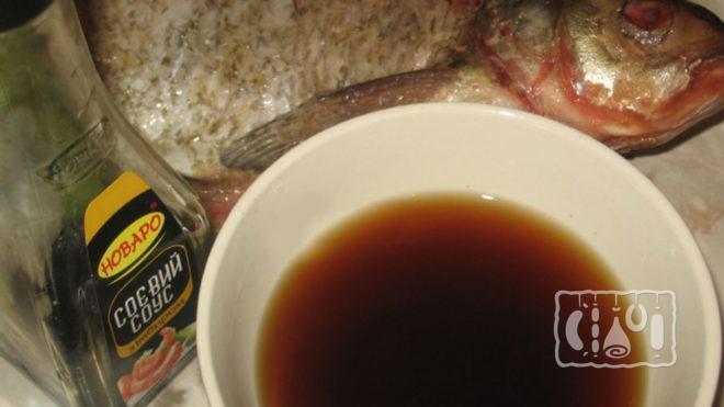 Маринад с белым вином и соевым соусом