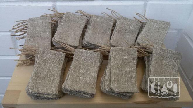 Мешочки из хлопчатобумажной ткани