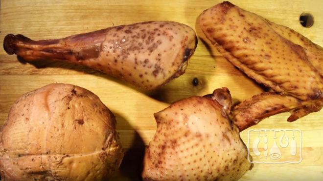 Мясо индейки холодного копчения