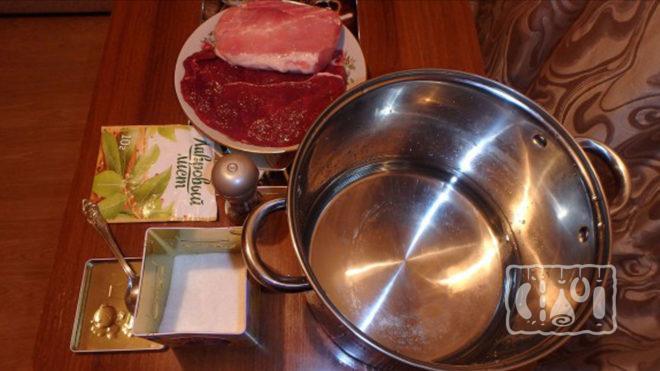 Приготовление рассола для говяжьего филе