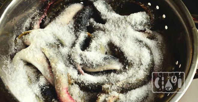 Засолка миноги сухим методом