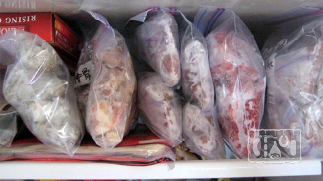 Пример хранения муксуна в холодильнике