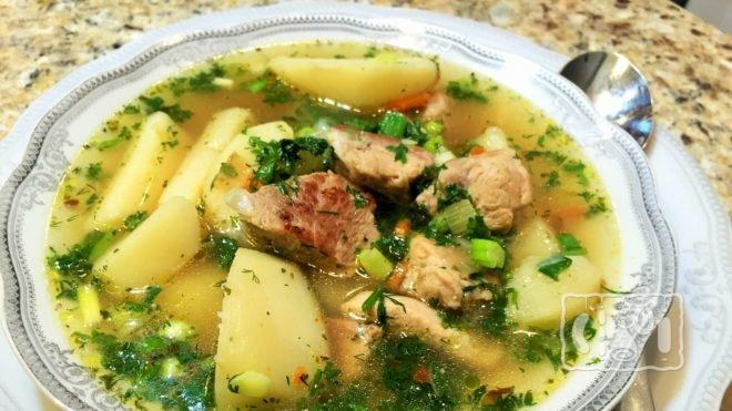 Как сделать суп с ребрышками и картофелем