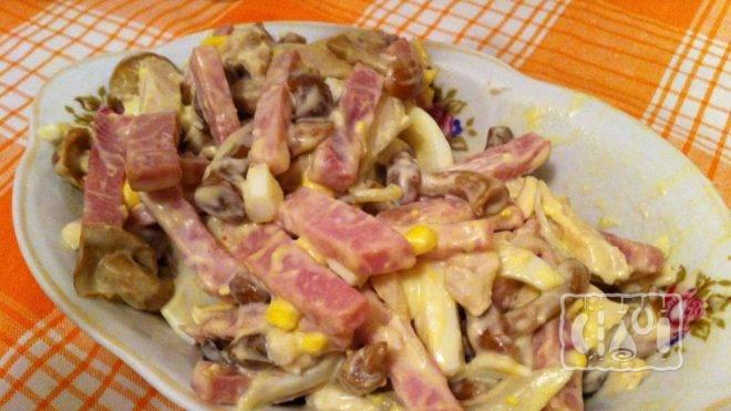 Рецепт с копченым мясом курицы
