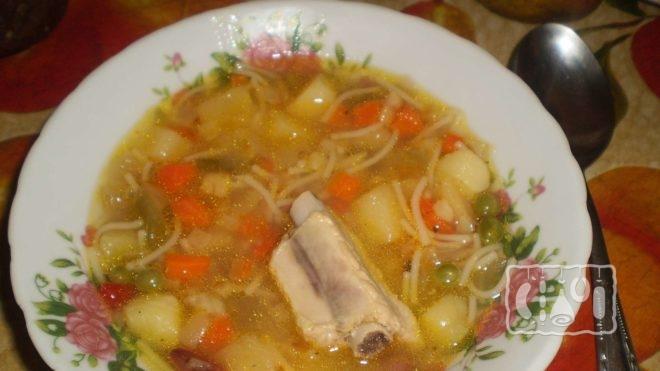 Приготовление супа из вермишели