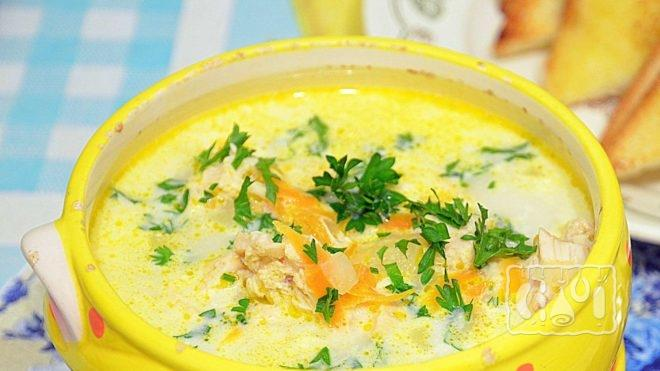 Рецепт приготовления супа с ребрышками и сыром