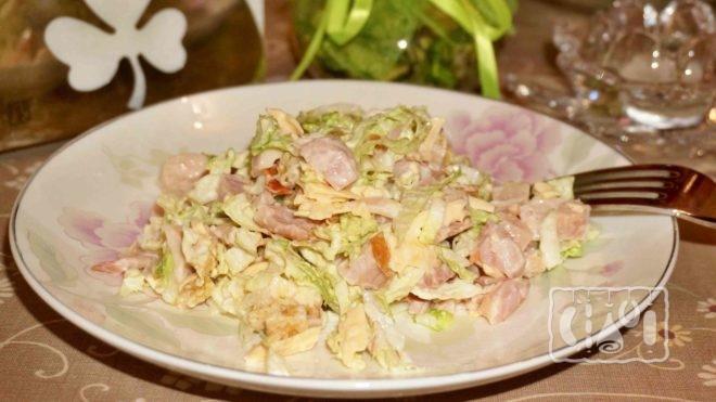 Рецепт салат со свежей капустой