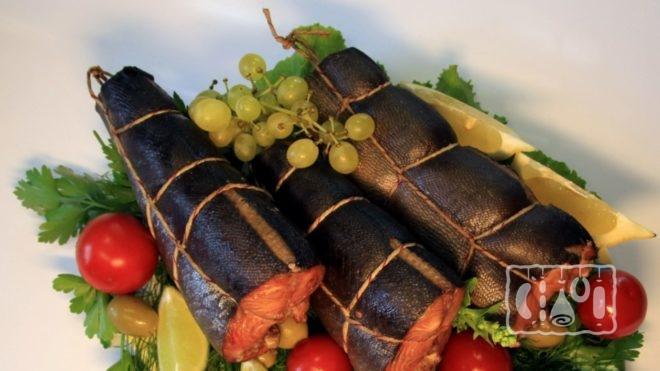 Рецепт копчения хребта семги