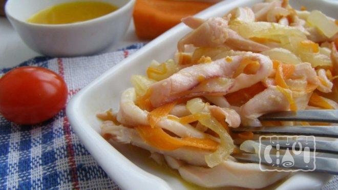 Рецепт приготовления копченого кальмара